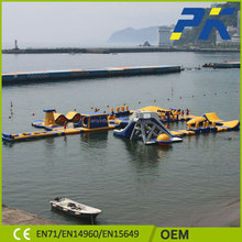 PVC Good quality for tarpaulin interesting inflatable floating mobile conveniente water amusement park for sale
