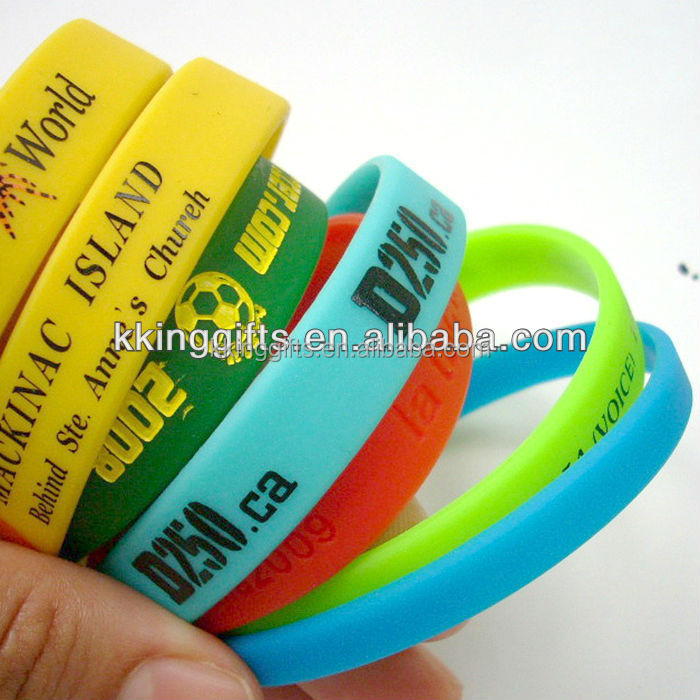 2015 New imprinted custom personalized silicone bracelet silicone wrist band no minimum