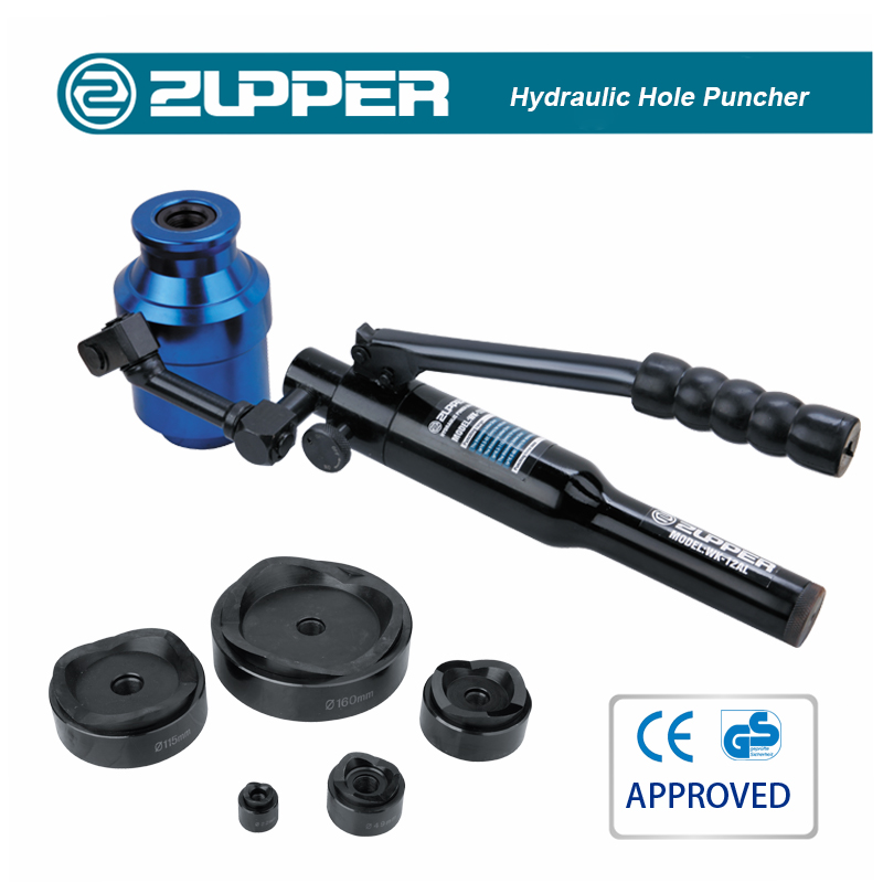 Zupper WK-12AL Portable Hydraulic Hole Puncher For 3.5mm Steel