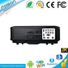 Showy 4000 Lumen high bright LED outdoor Projector Android 4.4 OS WIFI 2.4G 5G Quad Core LCD Projector