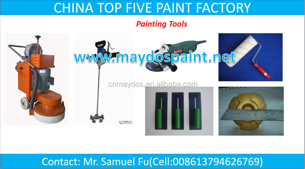CHINA TOP FIVE PAINT FACTORY-Maydos Wearing Resistance Epoxy Floor Coating For Factory Floor JD1000