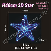 AC230V led rope light blue 3D star light