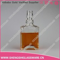 New design 120ml clear wine glass bottle for alcohol /spirit
