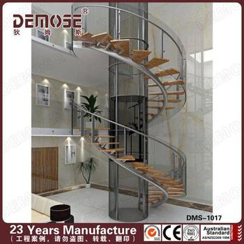 Ready Made Stairs Demose Glass Railings Spiral Stairs