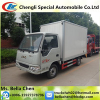 Cheap price, 1-1.5 tons JAC gasoline mini van truck for sale