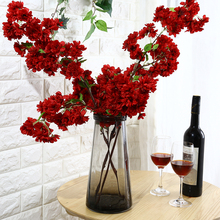 New cherry wholesale artificial flower silk flower for wedding decoration cherry tree flower wall backdrop