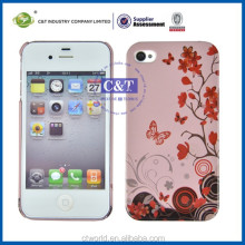 C&T beautiful bling flowers case for iphone 4,case for iphone guangzhou