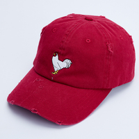 6 Panel Womens Promotional Worn-Out Embroidered Dhl Sample Free Distressed Baseball Cap