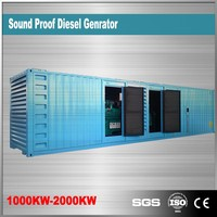 China suppliers 1200kw silent generator diesel 1500rpm