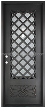 Merlin wrought iron exterior door series, with double hollow glass, fly screen, window operatable M-425