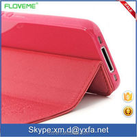Hot Selling Flip Stand Design Lychee Grain Cherry Case for IPhone 4 4S 5 5S 5C 5G Business Card Holder PU Leather TPU RCD03703