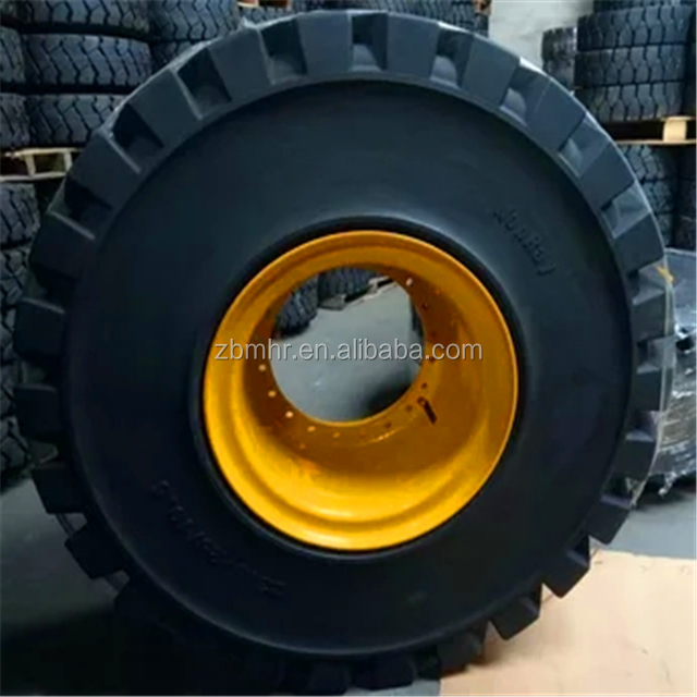 Brand MHR Construction skid steer solid tires 15.5---25 with 8 holes split rim wheel