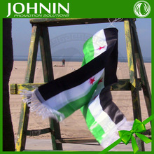 Factory customized polyester syria flag scarf