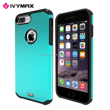Factory price phone acessories slim colorful hybrid armor phone case for Apple iphone 7 plus