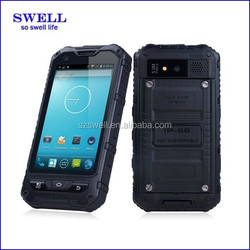 NEW A8S 4inch IPS lollipop phones and laptop IP67 rugged nxp waterproof mtk6582 quad core military rugged cellular phones