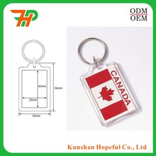 Active demand custom blank printed acrylic key chain