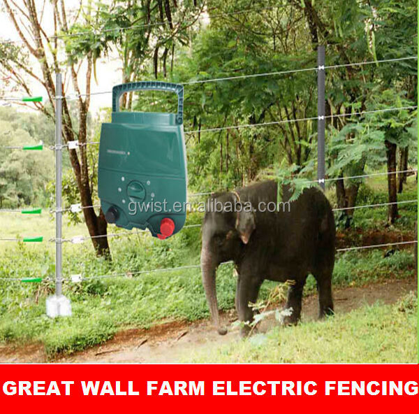 Powerful high voltage shock farm electric fence energiser/energizer charger for malaysian elephants