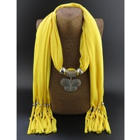 New Arrival Stylish Butterfly Shaped Pendant Tassel Jewelry Scarves