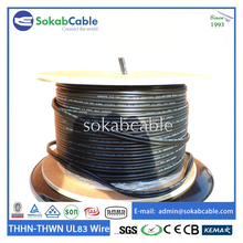600v Solid conductor PVC nylon insulation nylon sheath thhn/thwn 10 AWG electrical wiring for Paraguay