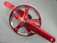 Alloy bike fixed gear single speed bicycle crankset