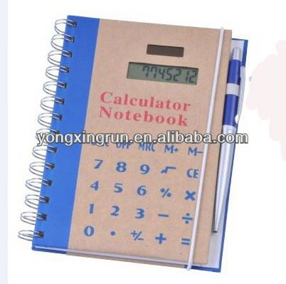new product organizer notebook with calculator