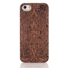 Custom Wooden+PC Mobile Phone Cases with 6 kinds of hot selling laser pattern for Iphone5/5s/5se