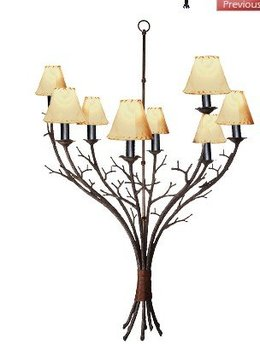 lamp : Natural Pine Limbs, Twigs, Elegant Lodge Style Chandelier LC594