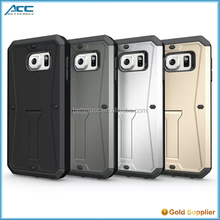 Alibaba Wholesale Shockproof Heavy Duty Armor Kickstand Case For Samsung Galaxy s6