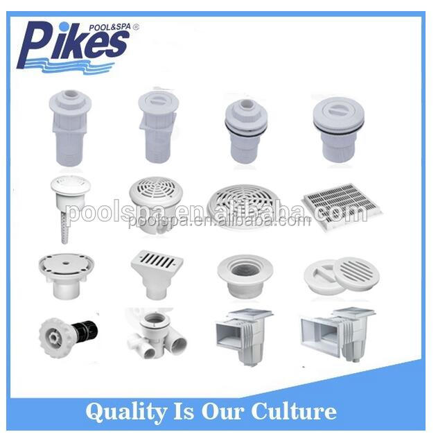 white plastic pool accessories vacuum fitting swimming pool inlet fittings