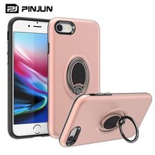 Hot selling magnetic pc tpu combo 360 rotation ring holder case for iphone 8 , for iphone 8 phone cover