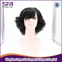 Low price synthetic front lace wig, natural wig