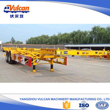Factory price 2 axles 40ft container skeleton trailer for sale