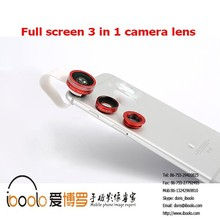 New product High quality Clip 3 in 1full screen camera Lens kit for cell phone
