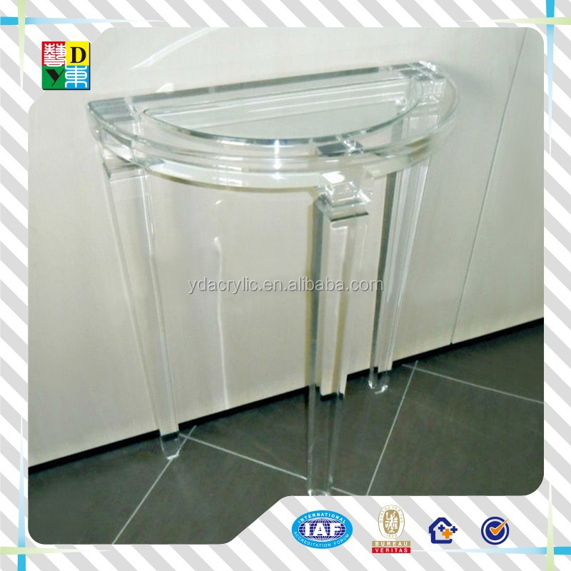 Lucite unique Acrylic Baroque End Table Side Table cheap Occasional Table