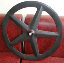 Carbon fiber fixed gear 5 aero spoke wheel