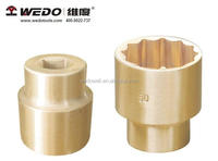"1/4"" sockets with hex pointes Aluminium Bronze/Beryllium Copper (non sparking tools) High-quality WEDO TOOLS"