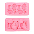 Summer Cheap Silicone Fish Bone Shaped Freeze Maker Ice Cube Trays Mold MTY3