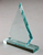 Triangle shape glass trophy jade awards from factory