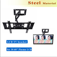 "Cold-rolled wall mounting bracket hinged Steel LCD TV bracket,TV Wall Mount Bracket for 30-60"" Plasma LCD LED black"