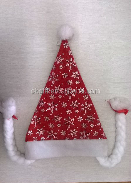 2014 New Design woman christmas hat with braid