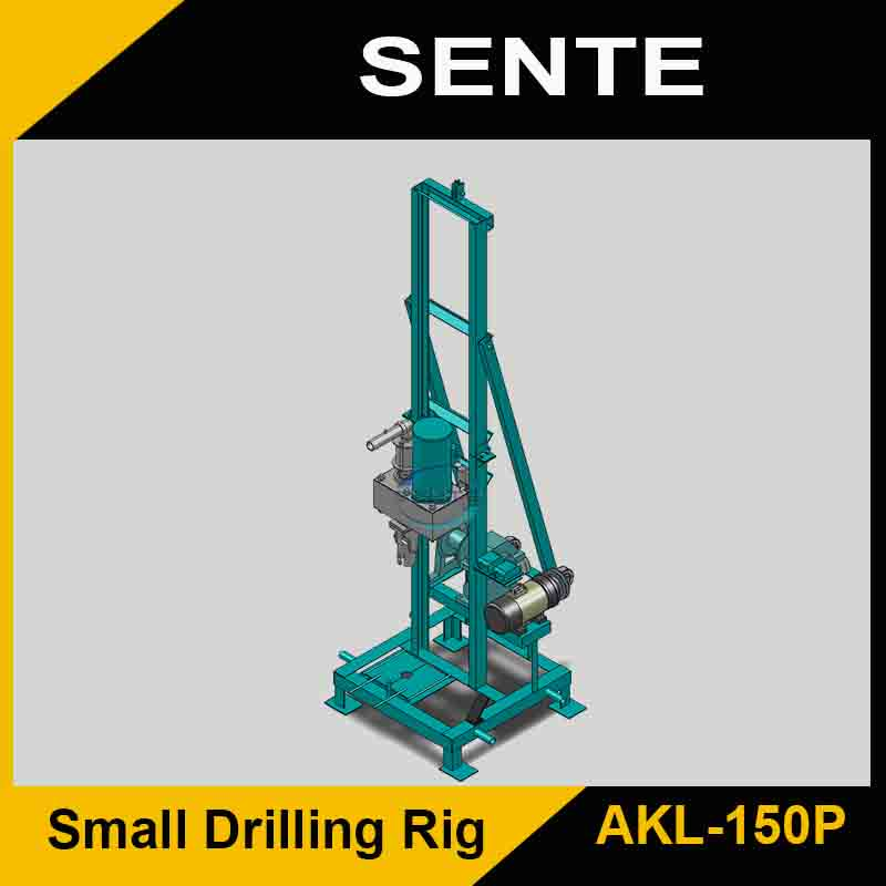 2016 New Type AKL-150P portable water well drilling equipment
