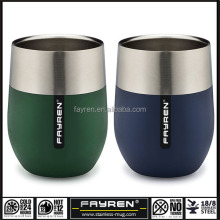 double wall custom stainless steel copper color Insulated frosted beer coffee mug cup with lid