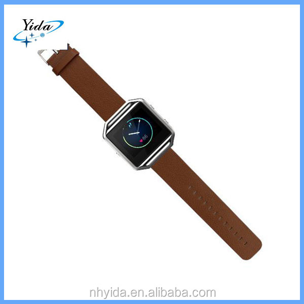 Brown Genuine Leather Watch band Leather Band for Fitbit blaze
