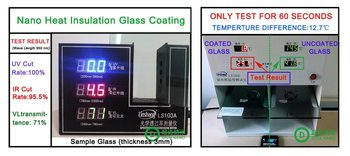 Winter room nano glass coating-cool in summer/hot in winter