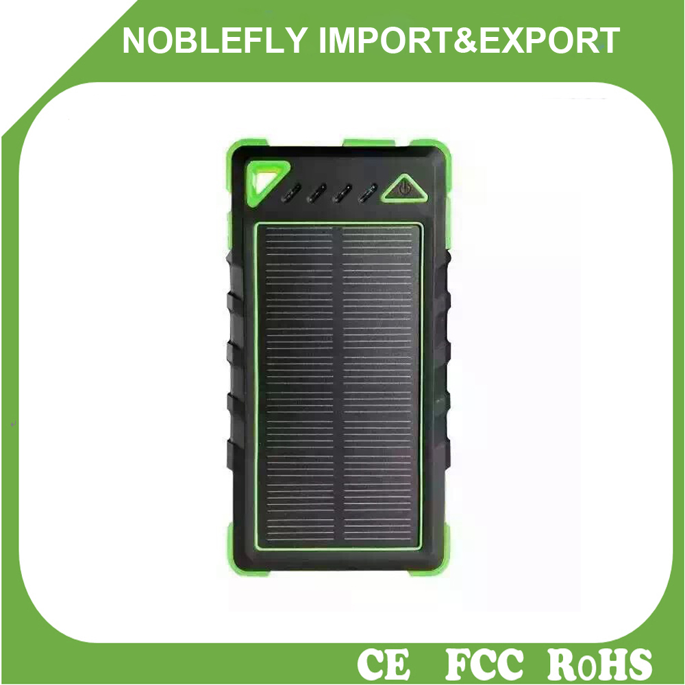 Quick charging usb 2.0 cable 10000mah solar charger 8000mah abs slippy mobile power bank Custom logo portable solar bank charger