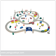 Wholesale cheap model railway thomas wooden train playing set wooden toy train