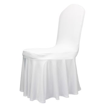 wholesale cheap spandex banquet wedding stretch ruffled chair covers housse de chaises