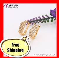 29412- Xuping Charm Gold Plated Huggie Earring Wedding Jewellery Wholesale