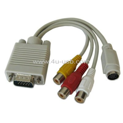 VGA to S-Video/ RCA TV Display Adapter Cable