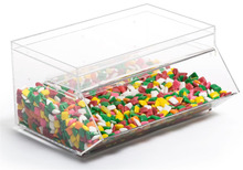Unique Acrylic Mini Candy Bin Candy Dispenser with a Slide